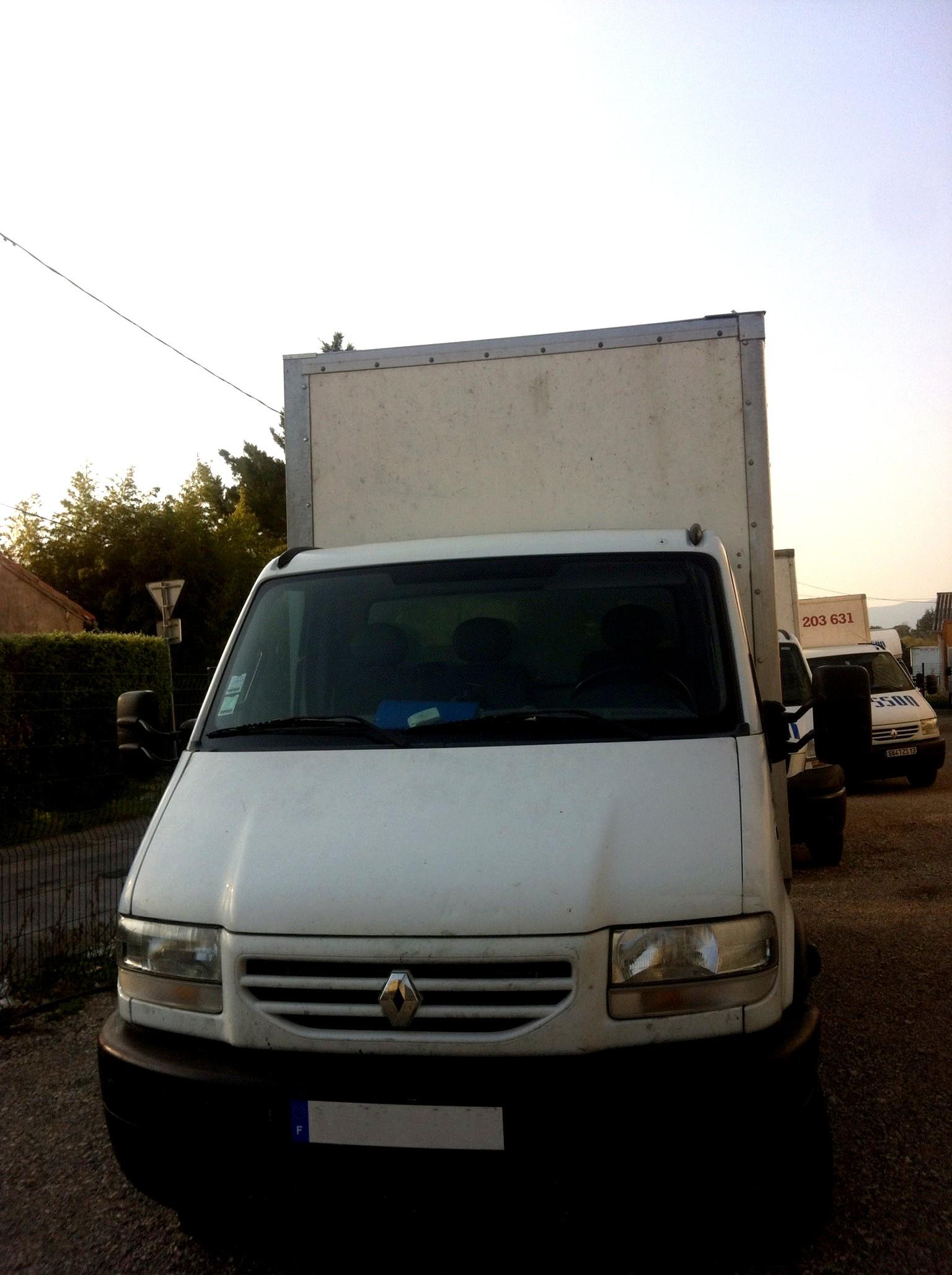 Location camion avec chauffeur - 20m3 soit environ 50m2